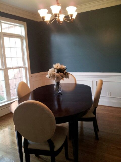 Simple Dining Room Color Ideas: Sherwin Williams...Riverway