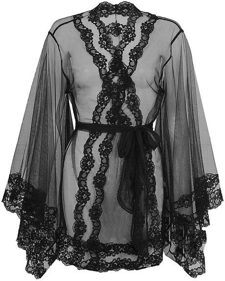 Agent Provocateur Black Lacy Kimono. Phwoooar might have to start surreptitiously leaving the AP website open on the boyfriend's computer.