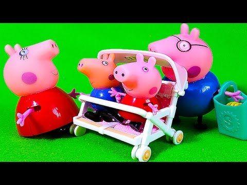Сильваниан Фэмилис распаковка Игрушки Коляска Зайчик Свинка Пеппа на площадке Играем Игры для детей