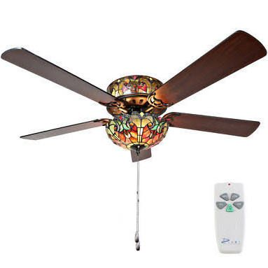 tiffany ceiling fans with lights - Google Search