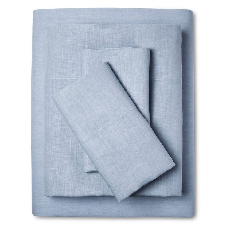 Linen Sheet Set - Blue (Cal King), Denim Blue