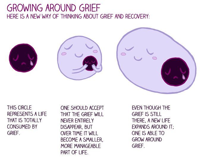 Growing Around Grief   Slowly  I Think The Original Hole Will Always Be Fairly Large But Surely