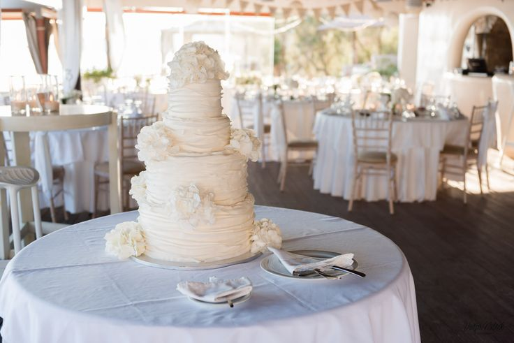 Delicious, Frosting, Cake, Design, Style, Santorini Weddings