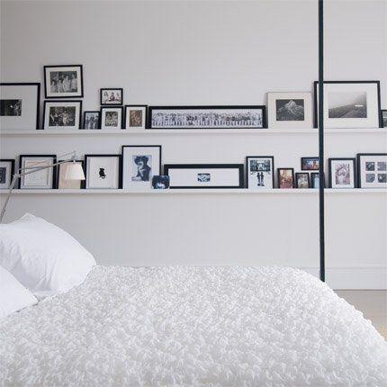 graphic white bedroom