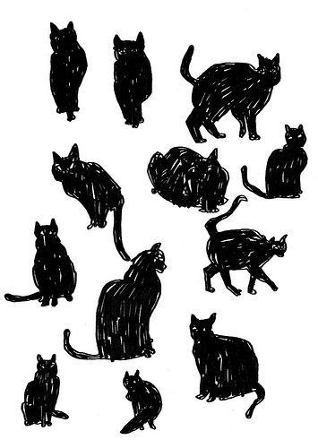 artistiquee:    svarta katter (by mon dieu!)