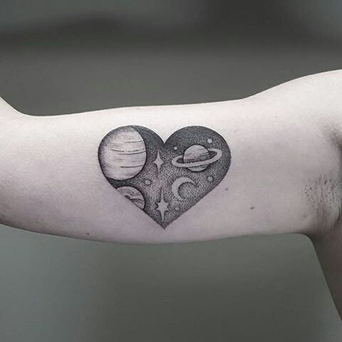 209 best images about tattoos on pinterest for Milky way tattoo