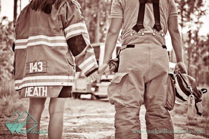 Leslie & Trey | Midway Engagement Photographer {Dorchester Shooting Preserve} Firefighter/ Fireman Engagement Pictures!
