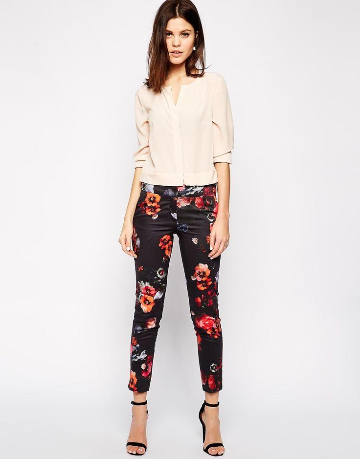 Image 1 - Warehouse - Pantalon fleuri coordonné