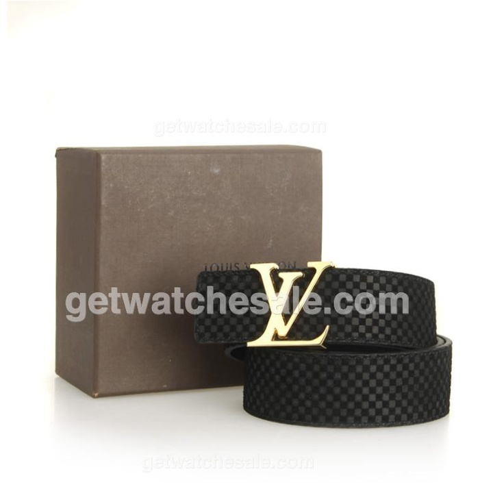 Louis Vuitton Men's Damier Calfskin Leather Belt, Polished Goldtone Initial LV Buckle, Black LV embossed calfskin leather lining;Initial LV gold-tone buckle secures.$79.00 with Free Shipping.  www.getwatchesale.com/cheap-louis-vuitton-belts-on-sale-cb290.html sales louis vuitton belt for men in cheap