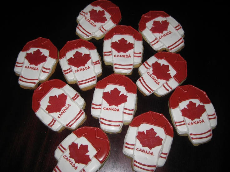 Olympic Cookies for Canadian Men's Hockey