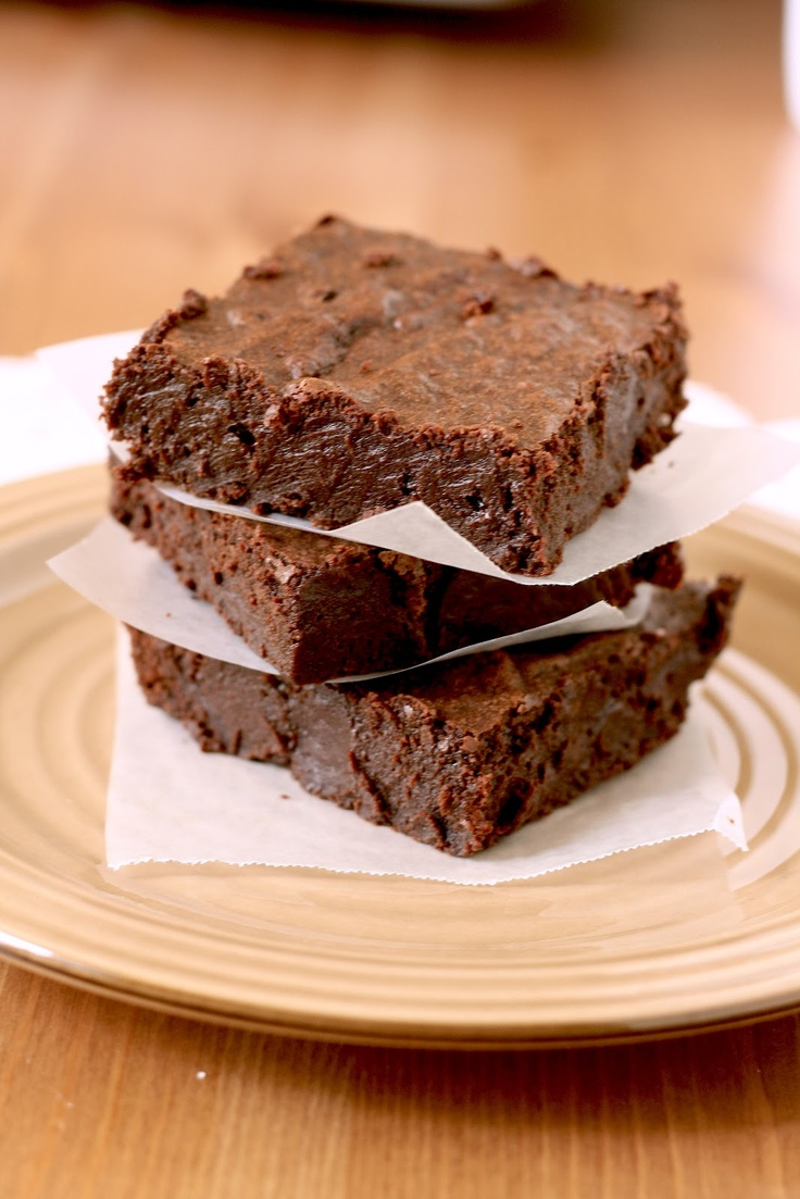 The fudgiest, most chocolatey brownies you'll ever eat -- but with a twist! A splash of Grand Marinier gives these brownies a boozy chocolate orange flavor.