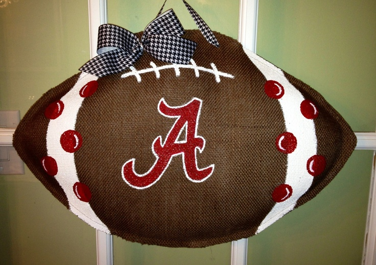 Alabama Football - Burlap Door Hanger