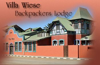 #Swakopmund, #Namibia – Villa Wies Backpackers Lodge is a converted 100yr old building is now home to the Villa Wiese. Owned by Johan and Tinki the Willa Viese is a home away from home. It's just a short walk to the centre of town, supermarkets, restaurants, and the main beach. With dorms & private rooms,  self-catering kitchen, upstairs bar - it a popular choice for travellers #VillaWies #Cheetahs #dolphinsealcruise #scenicflight
