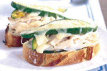 Open grilled chicken, avocado and mozzarella sandwich recipe