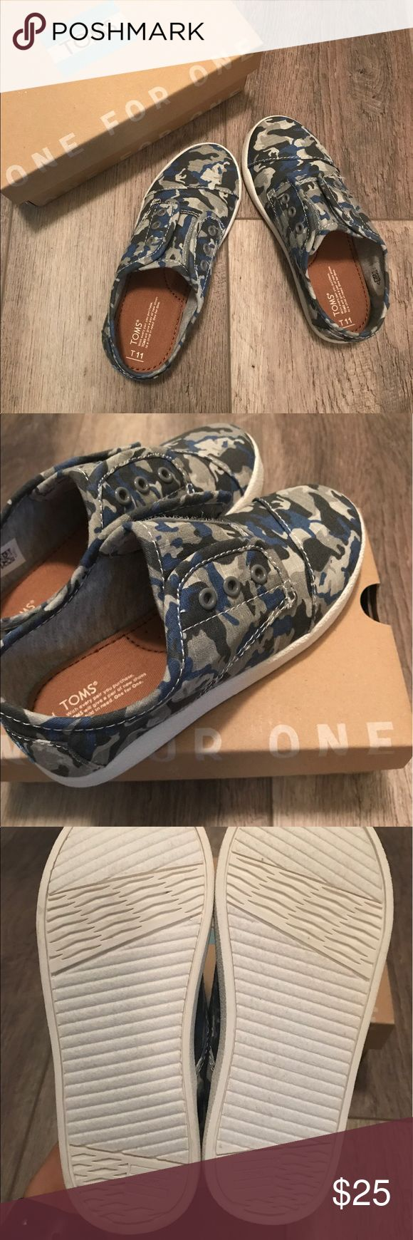 Digital Camouflage Toms (NWB) These have never been worn.  Velcro close.  No trades! Toms Shoes Sneakers