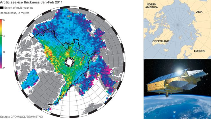 First ice thickness map of the seas