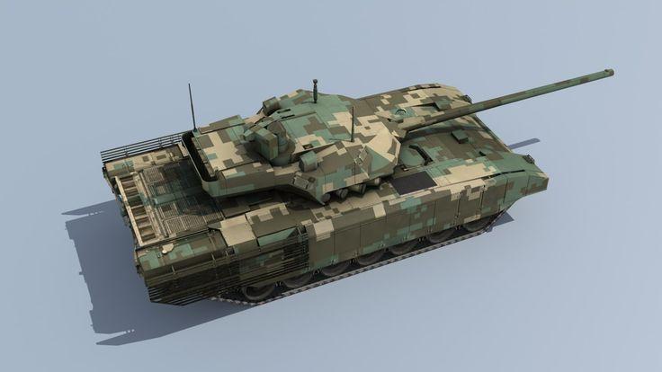 3d russian armata t-14 battle tank model