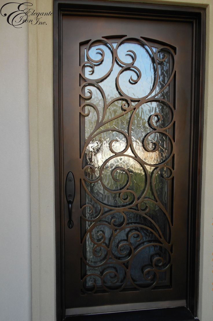 Custom wrought iron front door home ideas pinterest for Door design of iron