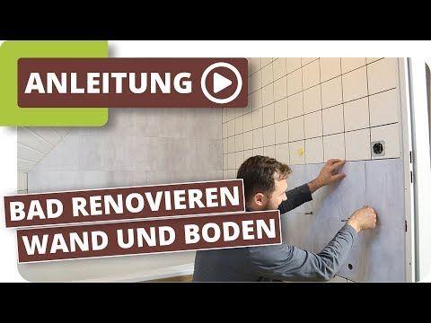 Bad Neu Gestalten Boden Und Wande Im Alten Badezimmer Renovieren