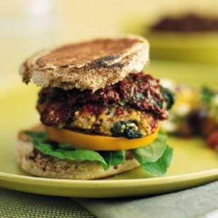 Vegetarian Burger Recipes: Olives Ketchup, Eating Well, Veggies Burgers, Mediterranean Food, Mediterranean Burgers, Burgers Recipes, Freezers Recipes, Vegetarian Burgers, Hamburg Recipes