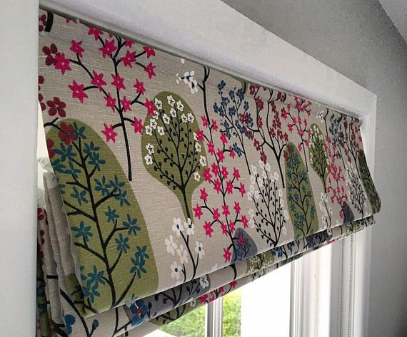 Scandinavian Blind- Made to Measure Roman Blind- Any of our Fabrics- Hand Sewn- Lined- Bespoke Roman Blind- Linen Blind- Custom Roman Blind
