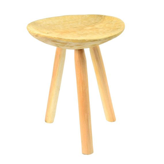Wooden small stool Rustic stools Shabby chic primitive seat handmade