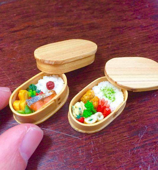 ドールハウス☆ミニチュアフード☆曲げわっぱのお弁当☆ by ooidesang おもちゃ ミニチュア