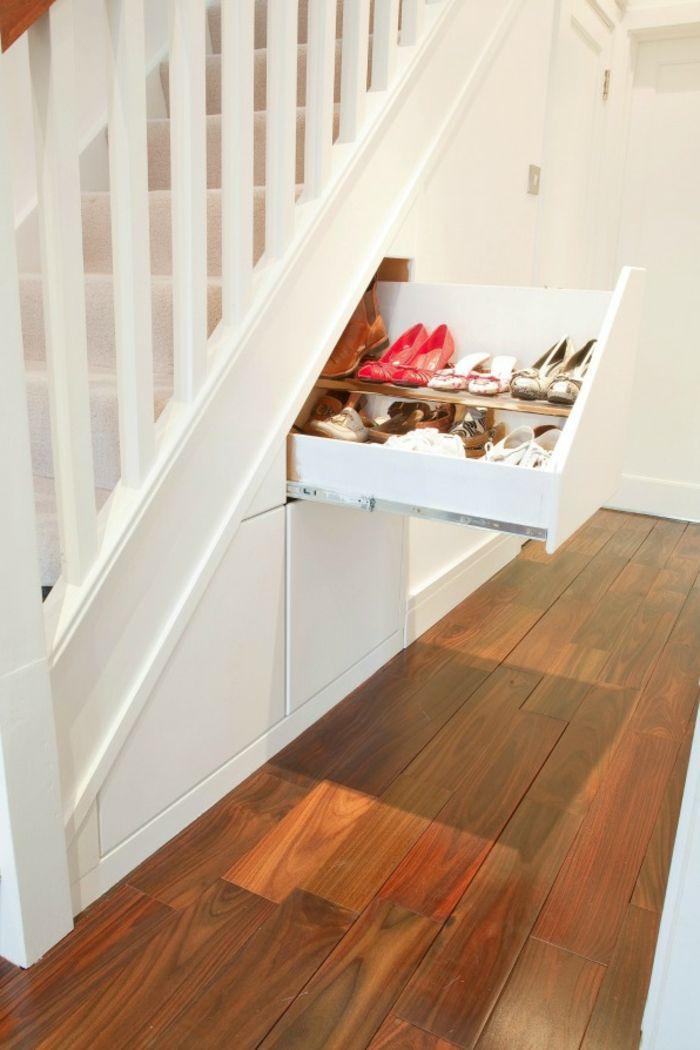 17 parasta ideaa Stauraum Ideen Schlafzimmer Pinterestissä Tv - unter der treppe wohnideen