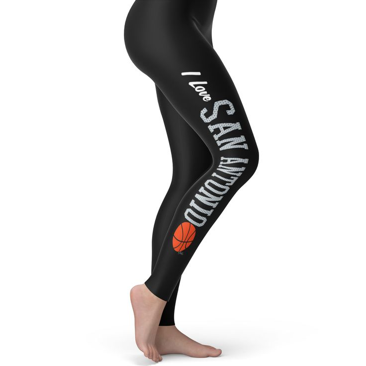 I Love San Antoni...  Rock In Style With Twisted Envy creative Art, Personalised Gifts, funny t-shirts & more,     http://twistedenvy.com/products/i-love-san-antonio-basketball-womens-leggings?utm_campaign=social_autopilot&utm_source=pin&utm_medium=pin