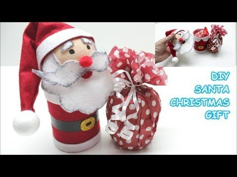 Recycled Crafts Ideas: DIY Santa Christmas Gifts |Plastic Bottles,  Felt...