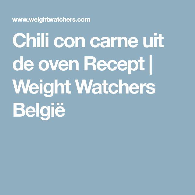 Chili con carne uit de oven Recept | Weight Watchers België