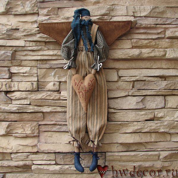 Примитивная кукла Ангел Зима (из набора)
