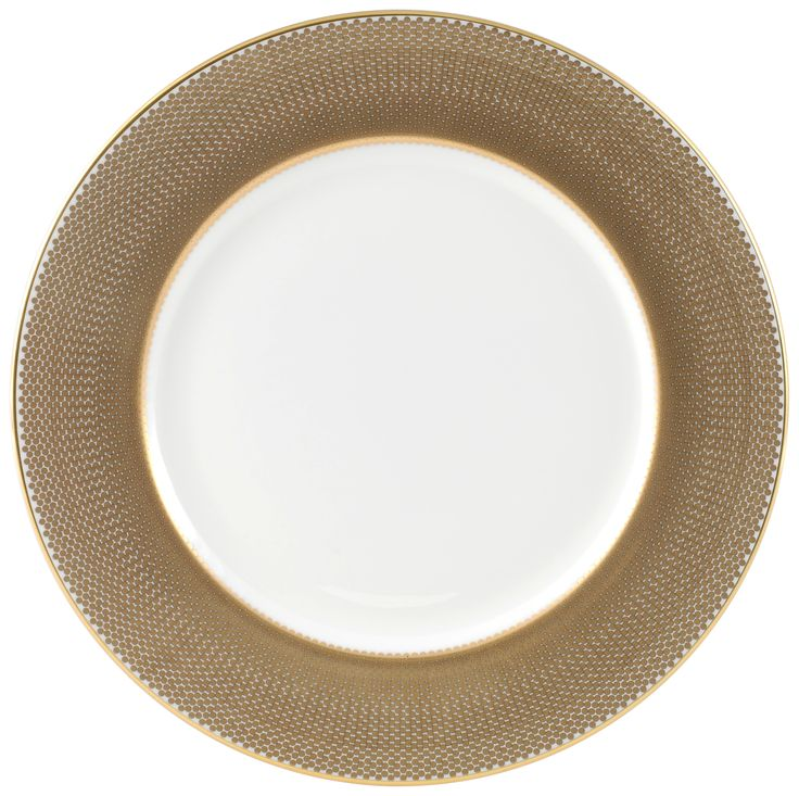 """8"""" 'Benday Gold' Breakfast Plate. Complimented with 22kt Gold rims and accents, this luxury range provides a touch of class and elegance. Hand made in Stoke-on-Trent, England, this collection is inspired by Benjamin Day: 'our homage to the dot'. 8"""" Plate can be used for snacks, dinner or dessert. Handwash Only, Fine Bone China. Find out more here: https://thenewenglish.co.uk/collections/benday-gold  #TheNewEnglish #Benday #Gold"""