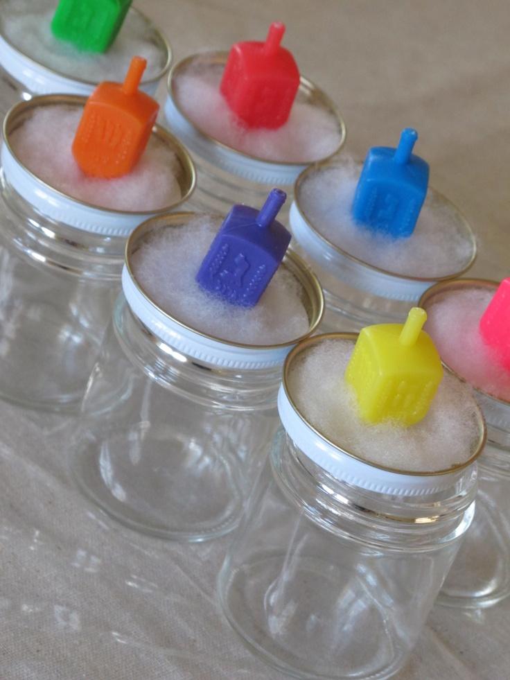 How to set up dreidel snow-globes as craft