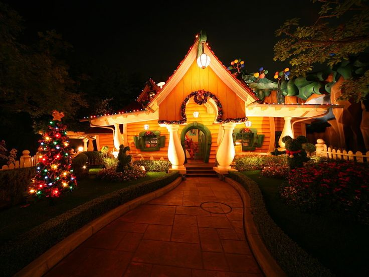 pin by danny victoor on achtergronden kerst pinterest - Mickey Mouse Christmas House Decorations