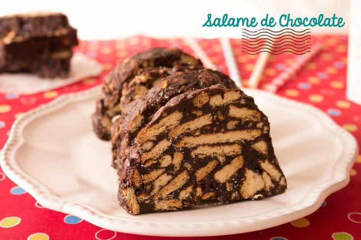 No Conforto da Minha Cozinha...: Um Clássico: Salame de Chocolate que não suja as m...