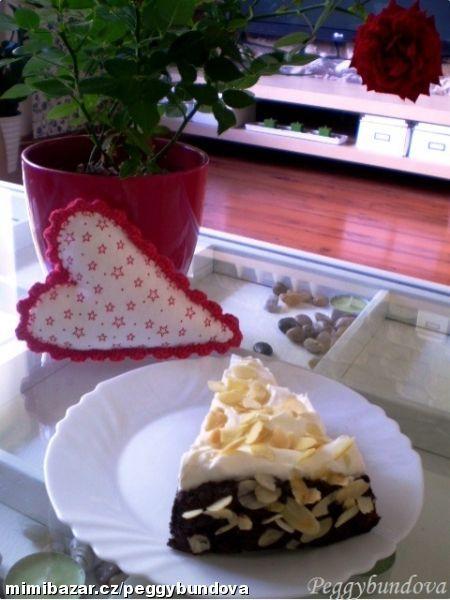 Belgický čokoládový dort s banány nepečený
