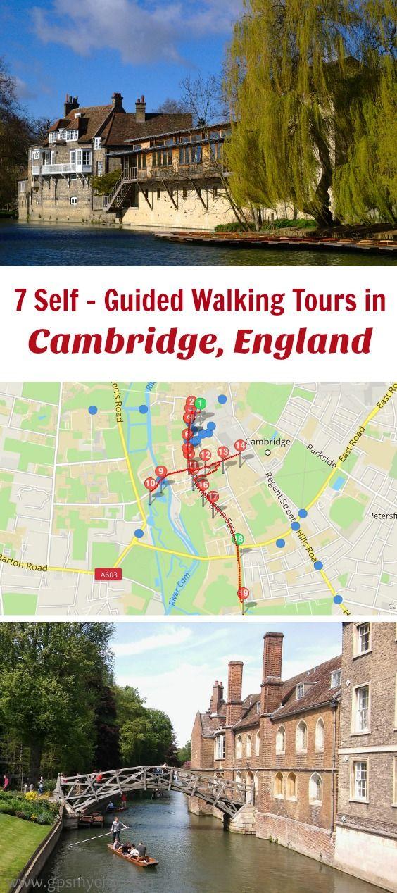 Cambridge Walking Tour Map Walking Tours in Cambridge, England in 2019 | England Travel