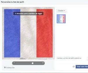 Facebook permite a sus usuarios añadir en su foto de perfil la bandera de Francia