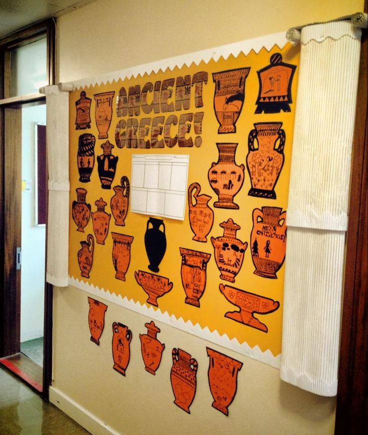 My Ancient Greece display. Not perfect but I'm proud of my columns!