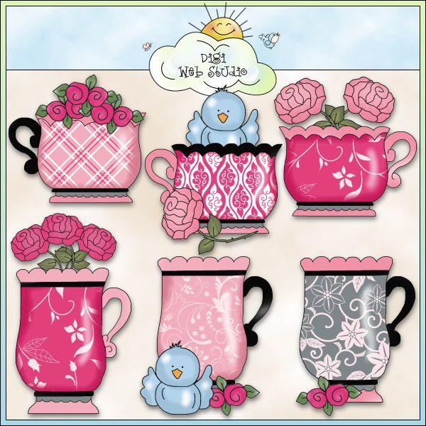 Grandma's Love in Paris Teacups 1 - NE Cheryl Seslar Clip Art : Digi Web Studio, Clip Art, Printable Crafts & Digital Scrapbooking!