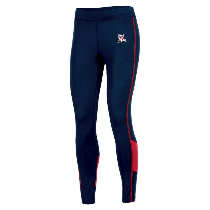 NCAA Women's Colorblock Poly-Spandex Fashion Leggings Pants Arizona Wildcats - XL, Multicolored
