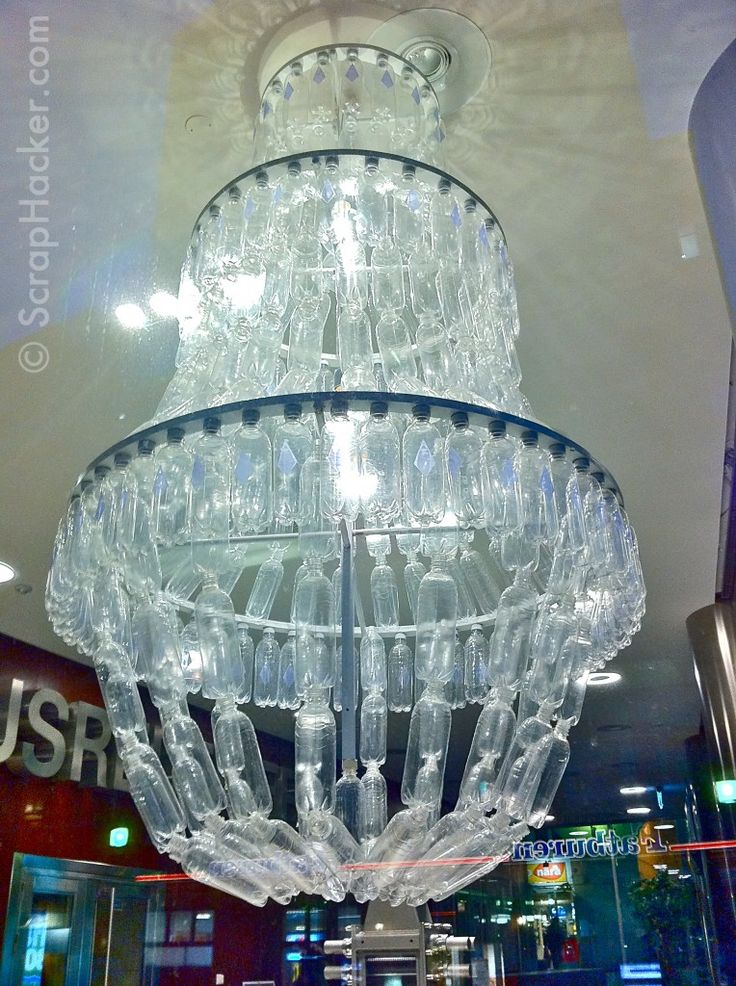25 best plastic images on pinterest recycle bottles chandeliers genius in a bottle the amazing plastic bottle chandelier mozeypictures Choice Image