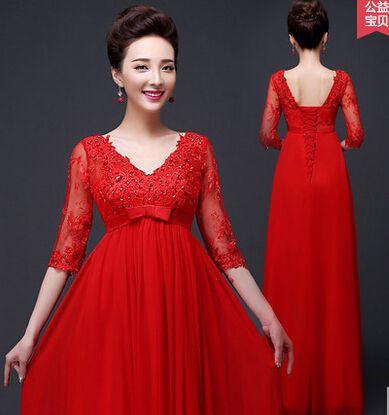 420034945 Longue robe de bal 2016 longue rouge soirée robes de soirée dîner ...