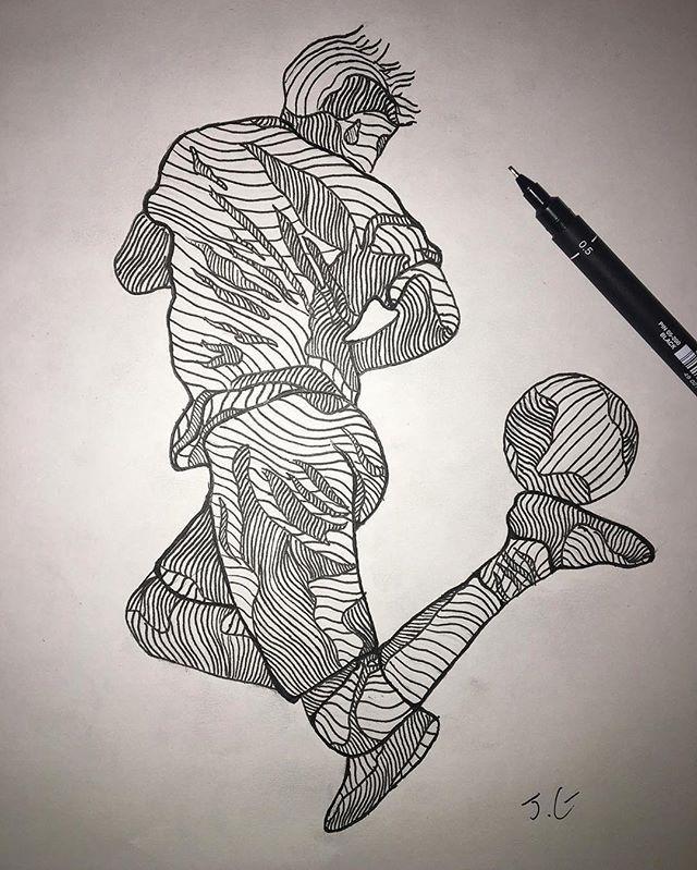Pin By Rifah Nanjib On Cute Drawing Sports Drawings Soccer Drawing Drawings