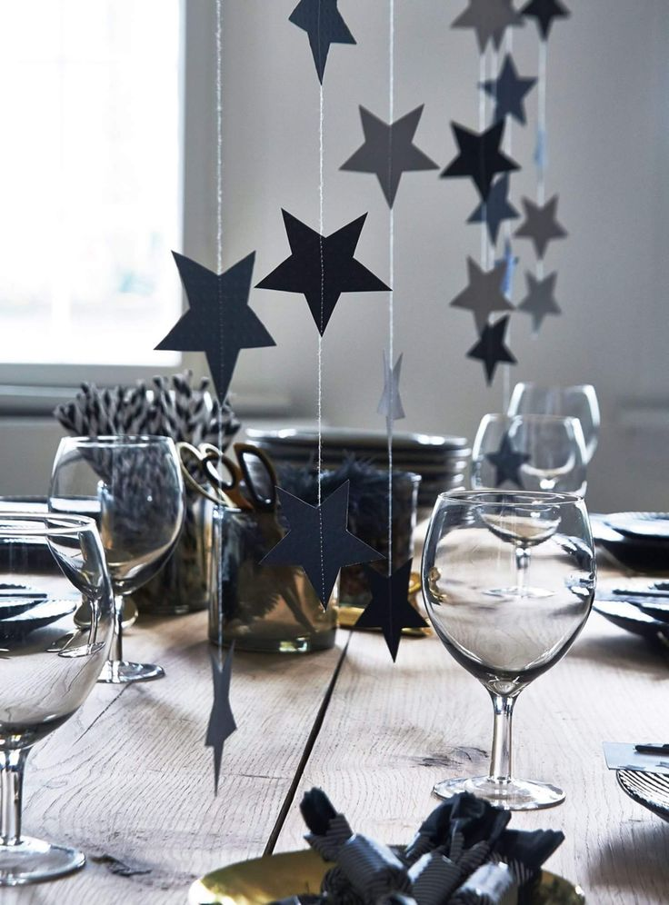 Lovely table setting for New Years Eve.