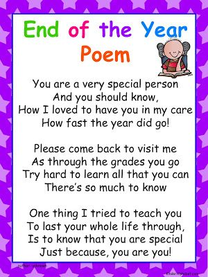 End of the Year Poems and Diplomas- Pinned by @PediaStaff – Please Visit ht.ly/63sNtfor all our pediatric therapy pins