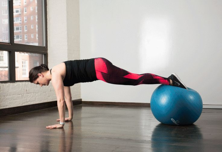 5. Stability Ball Tuck #stabilityball #abs #exercises http://greatist.com/move/abs-workout-best-stability-ball-moves-for-your-core