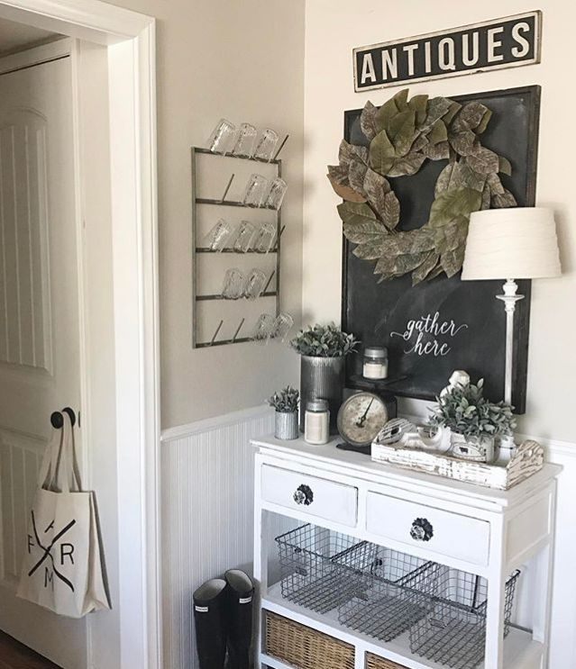 LOVE Bianca's #antique #vintage setting in her home!  An Antique Candle Works candle fills up this gorgeous space with the best fragrances for any #farmhouse home! Beautiful #handmade #soy #candles - #rustic #decor for the #modern #country home. PC: IG - withlavenderandgrace