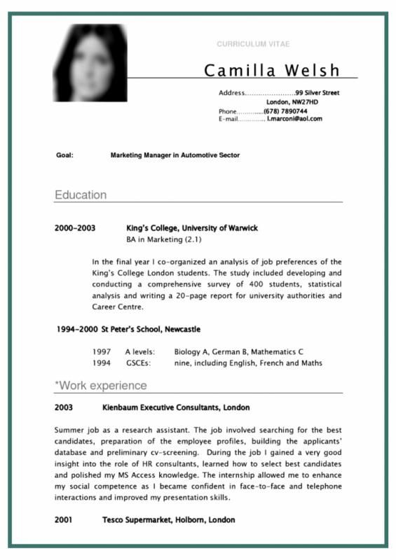 College Student Resume Example Template Pinterest Resume